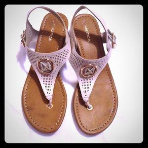 Nautica white off sandals